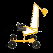 Sandlek - Gravemaskin med hjul