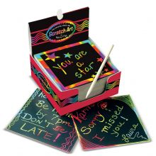 Scratch Art - Skrapebok Regnbuekort