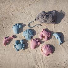 Sandformer i silikon- Nordiske farger, 4 stk.