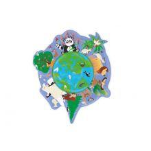 Silhuettpuslespill m. 45 brikker - Jorden
