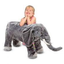 Tøydyr i plysj - Elefant