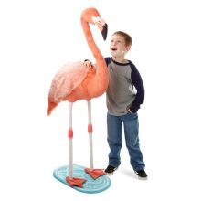 Tøydyr i plysj - Flamingo