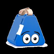 Teebee oppbevaringsboks inkl. tegnesaker - Blå
