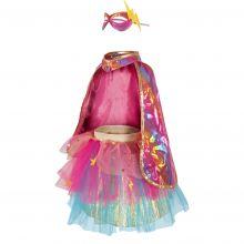 Kostyme - Superheltinne pink, str. 4-6 år