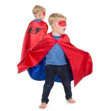 Utkledning - Vennbar kappe, Rød/blå superhelt