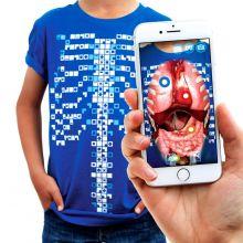 Anatomi t-shirt,  Interaktiv - Voksen