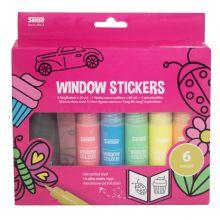 Windowsstickerskit - 6 farger og skabelonhefte