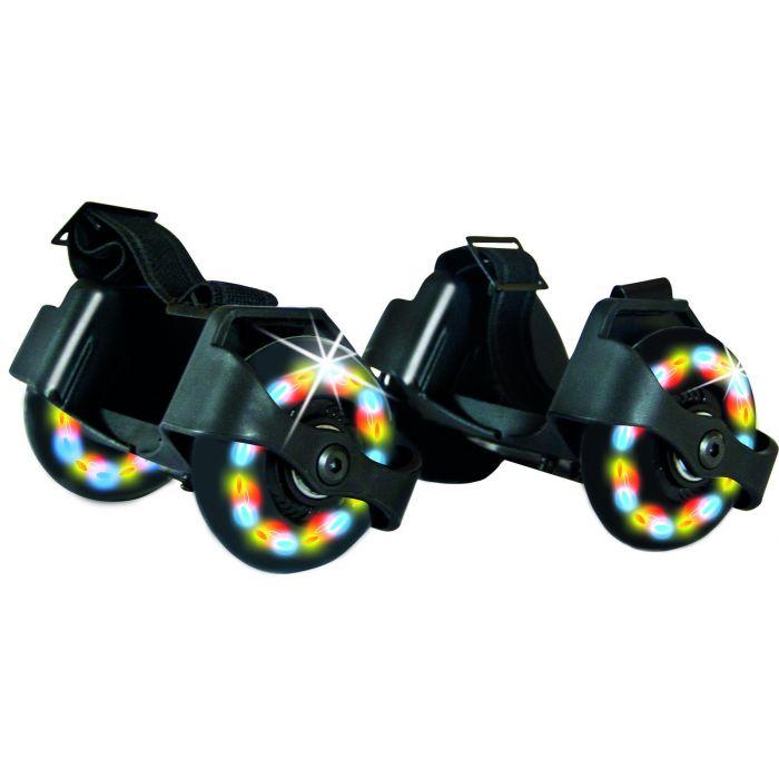 Rullesko, rullehjul som fester under skoen med LED lys. Kjøp