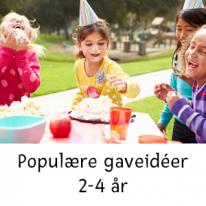 Populære gaveidéer 2-4 år