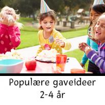 Populære gaveideer 2-4 år